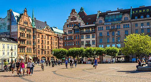 Stortorget in Malmö, Sweden