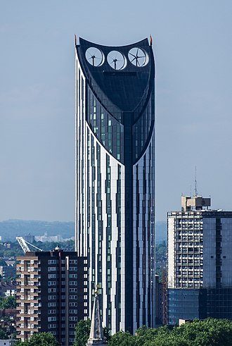 Strata SE1 - View of the Strata, taken from the Monument