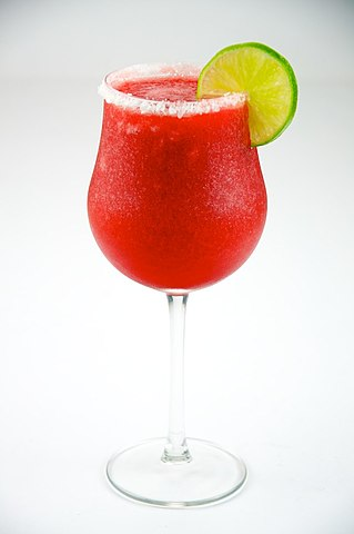 Strawberry daiquiri.