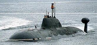 Akula-class submarine - Image: Submarine Vepr by Ilya Kurganov crop