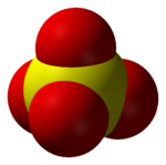 The sulfate anion, SO42−