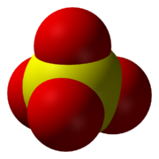 The sulfate anion, SO42-