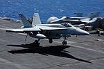 Super Hornet on USS Nimitz DVIDS93040.jpg