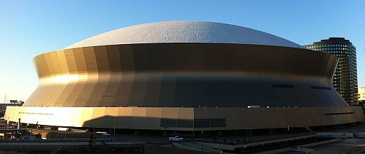 Superdome from Garage
