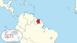 Suriname in its region.svg