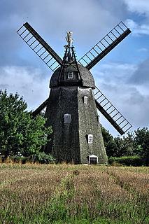 Svanemøllen windmill on Bornholm, Denmark