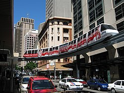 Monorail in Sydney City Centre