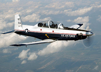Beechcraft T-6 Texan II - A USAF T-6A Texan II flying from Randolph Air Force Base.