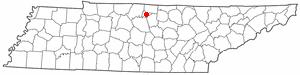 Hartsville, Tennessee - Image: TN Map doton Hartsville