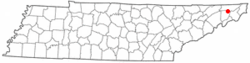 Location of Oak Grove, Tennessee