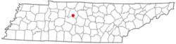 Location of Oak Hill, Tennessee