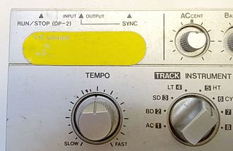 Roland TR-606 - Accent level control and sync jack (not MIDI) for bass synth