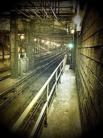 Summerhill station - Covered original open-cut north of the station