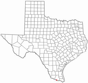 Hidalgo, Texas - Image: TX Map doton Granjeno