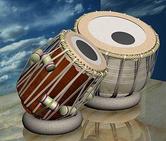 Syahi - Set of tabla, with the syahi applied