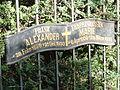 Tafel an der Fürstengruft am Alten Friedhof in Arnstadt 1.JPG