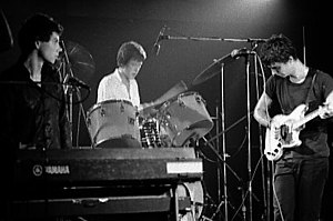 Talking Heads performing at the Horseshoe Tavern in Toronto in 1978