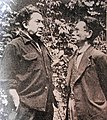 Tamiji Kitagawa and David Alfaro Siqueiros in 1955.jpg