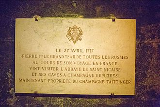 Taittinger - a marker in the cave