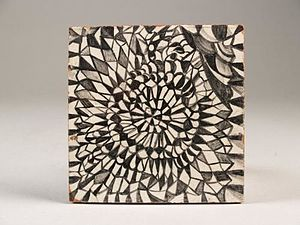 Harm Kamerlingh Onnes - Tile with geometric motif, 1953.