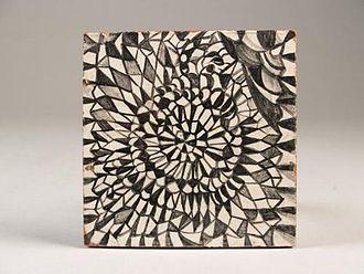 Harm Kamerlingh Onnes - Tile with geometric motif, 1953.