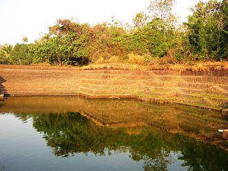 Temple tank - Temple Tank in Azhikode, Kannur, India.