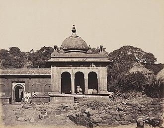 Mahabaleshwar - Panchaganga temple in Old Mahabaleshwar, 1850s