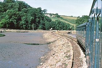 Looe Valley Line - Causeway approach to Terras Crossing