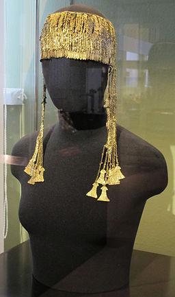 Tesoro di priamo, grande diadema con pendenti, oro, cat. 10, 01