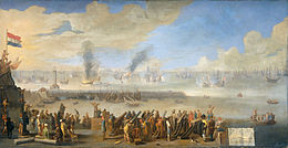 The Battle of Livorno (Leghorn) march 14 1653 (Johannes Lingelbach, 1660).jpg