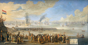 Battle of Leghorn - The battle of Leghorn. Johannes Lingelbach