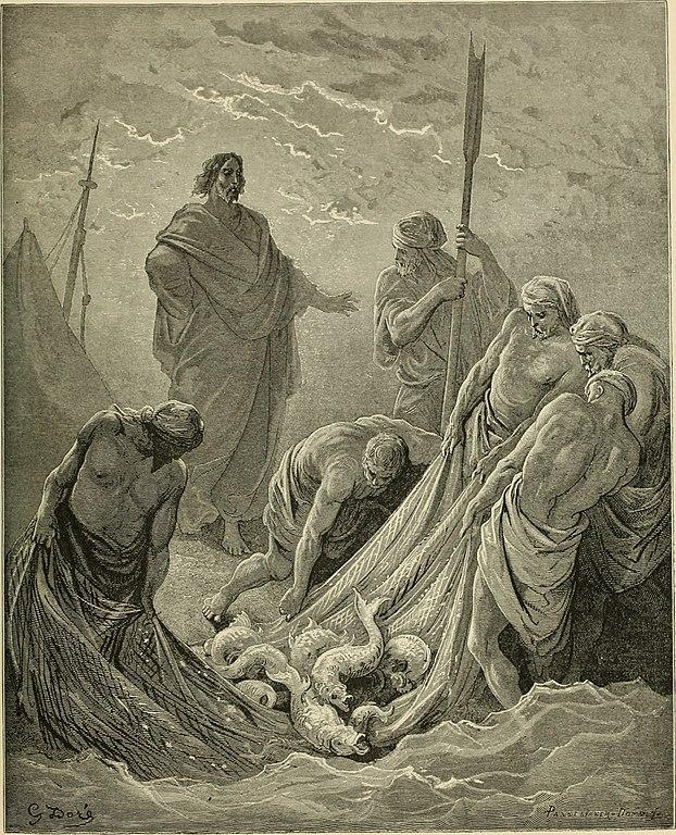고기를 많이 낚는 기적 (귀스타브 도레, Gustave Dore, 1866년)