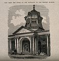 The British Museum at Montague House; the entrance tower, se Wellcome V0013528.jpg