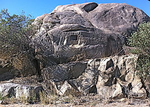Chippers Leap - The rock from the south - from the highway