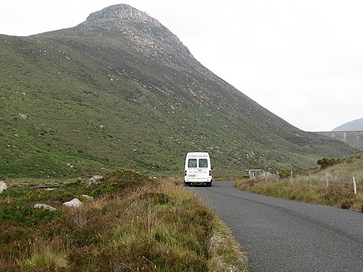 The Classic Coaches of Annalong Shuttle Bus approaching Ben Crom Dam - geograph.org.uk - 2530425
