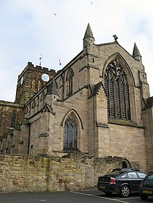 The Nave and Tower of Hexham Abbey from the northwest - geograph.org.uk - 749740.jpg