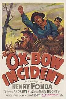 <i>The Ox-Bow Incident</i> 1943 American western film directed by William A. Wellman and James Tinling