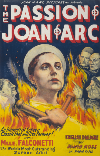 Renée Jeanne Falconetti - Renée Falconetti in the movie poster for The Passion of Joan of Arc.