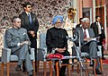 The Prime Minister, Dr. Manmohan Singh addressing at the inauguration of the Jagti Township for Kashmiri Migrants, in Jammu on March 04, 2011.jpg