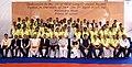 The Prime Minister, Shri Narendra Modi with the construction team of the Chenani-Nashri Tunnel, in Jammu and Kashmir.jpg