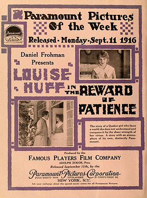 The Reward of Patience - Theatrical release poster