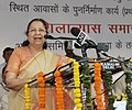 The Speaker, Lok Sabha, Smt. Sumitra Mahajan addressing at the foundation stone laying ceremony for the redevelopment of North Avenue quarters, in New Delhi on April 11, 2017.jpg