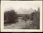 The Tetons from the East, South Fork of Snake River, Wyoming, C.R. Savage, Salt Lake.jpg