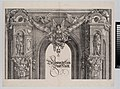 The Upper Section of the Entryway to the Central Portal with a Winged Figure Holding the Imperial Crown, from The Triumphal Arch of Maximilian I, 1st edition (1517-18) MET DP-16116-043.jpg