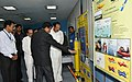 The Vice President, Shri M. Venkaiah Naidu looking at the various facilities at the Indian National Centre for Ocean Information Services (INCOIS) and the National Tsunami Warning Centre, in Hyderabad (1).JPG