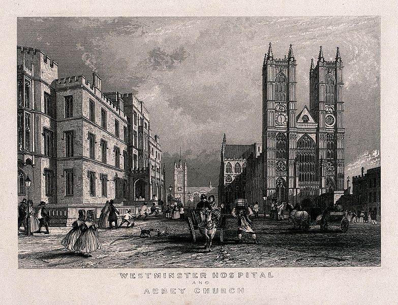 File:The Westminster Hospital, and Westminster Abbey, London. Eng Wellcome V0013807.jpg