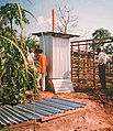 The completed Skyloo in Bengala village - the separate secondary composter (5372706718).jpg