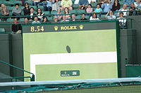 The decision of In or Out with the help of Technology at Wimbledon.jpg