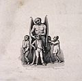 The devil examining the head of a boy; three other boys lurk Wellcome V0009469.jpg