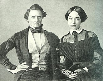 Jefferson Davis - Wedding photograph (a daguerrotype) of Jefferson Davis and Varina Howell, 1845